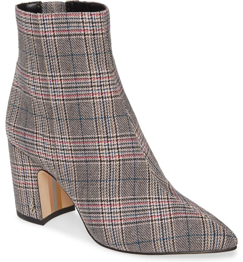 SAM EDELMAN Hilty Bootie, Main, color, BLACK/ WHITE PINK MULTI