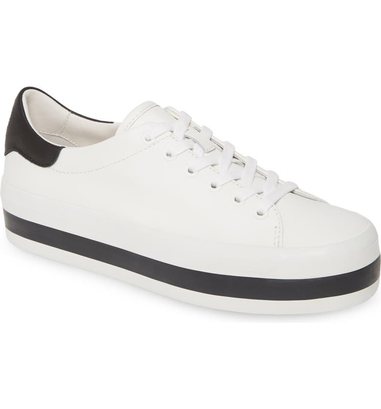 ALICE + OLIVIA Ezra Flatform Sneaker, Main, color, WHITE/ BLACK