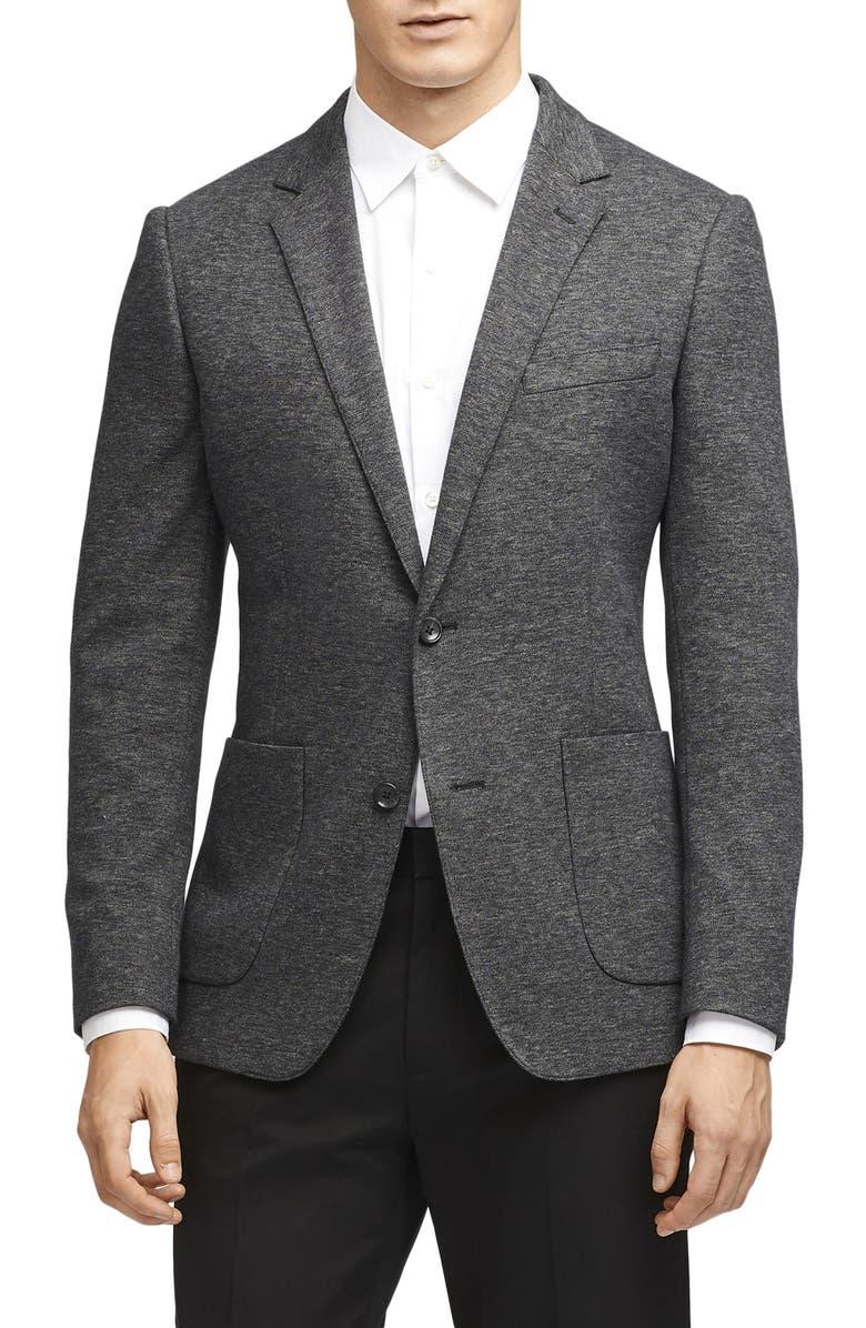 BONOBOS Slim Fit Knit Sport Coat, Main, color, GREY