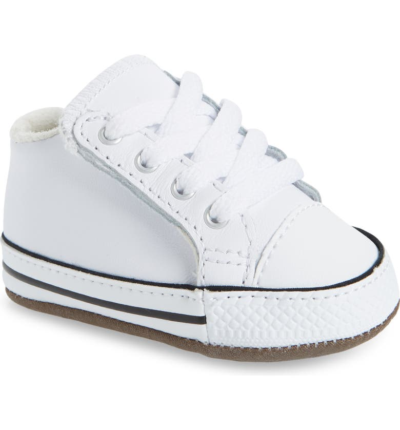 CONVERSE Chuck Taylor<sup>®</sup> All Star<sup>®</sup> Cribster Low Top Crib Shoe, Main, color, WHITE/ NATURAL IVORY/ WHITE