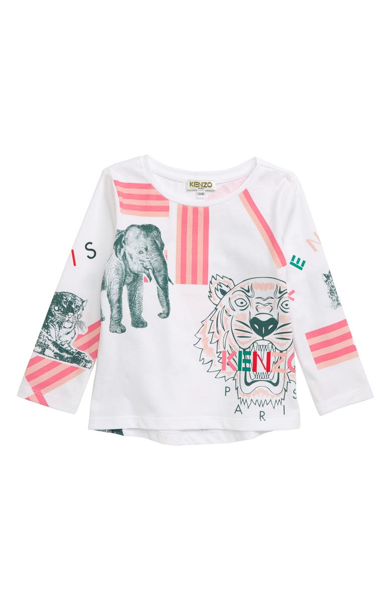 KENZO Logo Graphic Top, Main, color, WHITE