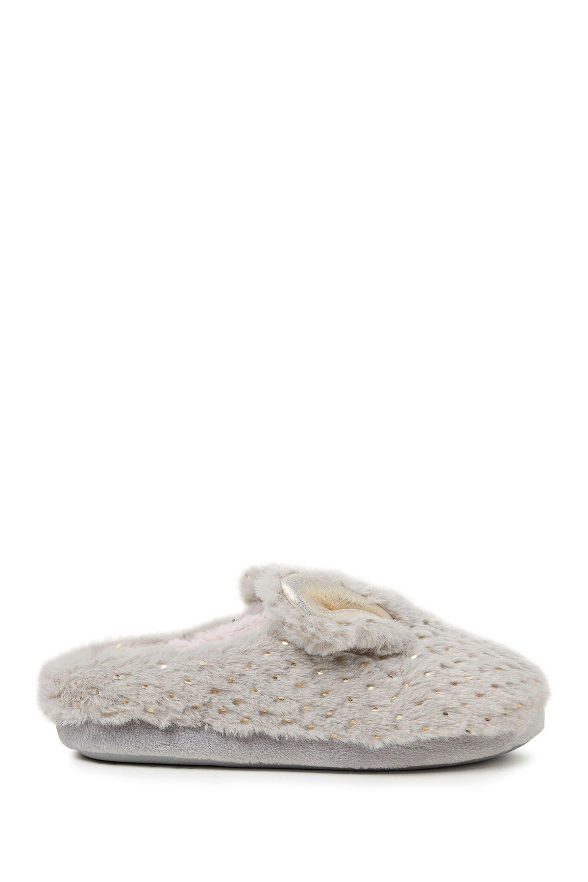 Image of Dearfoams Emma Faux Fur Sparkle Critter Slipper