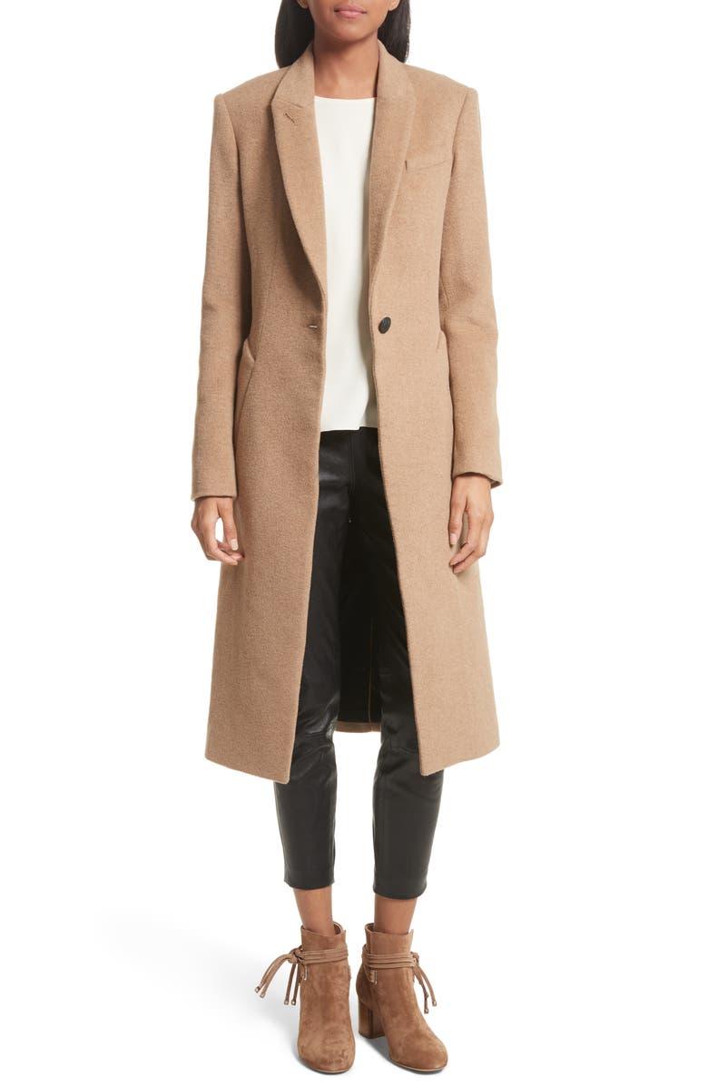 RAG & BONE Duke Camel Hair Coat, Main, color, 202