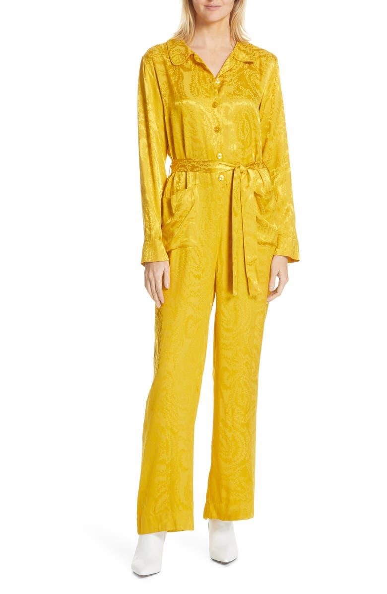 STINE GOYA Marissa Jacquard Jumpsuit, Main, color, SWIRL