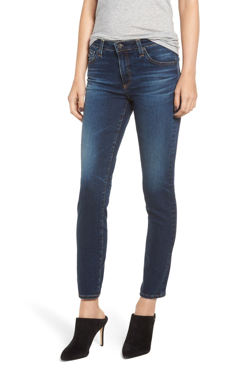 AG Prima Ankle Cigarette Jeans, Main, color, 04 YEARS RAPIDS