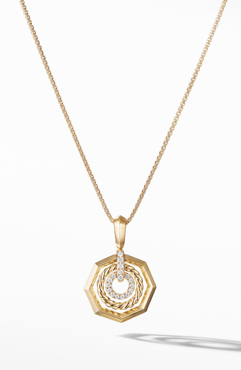 DAVID YURMAN Stax Pendant Necklace with Diamonds in 18k Gold, Main, color, GOLD/ DIAMOND