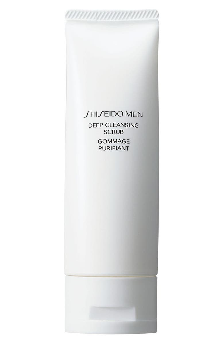 SHISEIDO Men Deep Cleansing Scrub, Main, color, 000