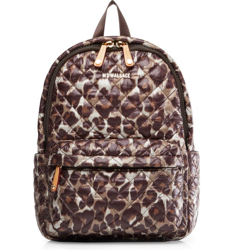 MZ WALLACE Small Metro Backpack, Main, color, LEOPARD PRINT