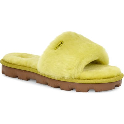Ugg Cozette Genuine Shearling Slide, Green