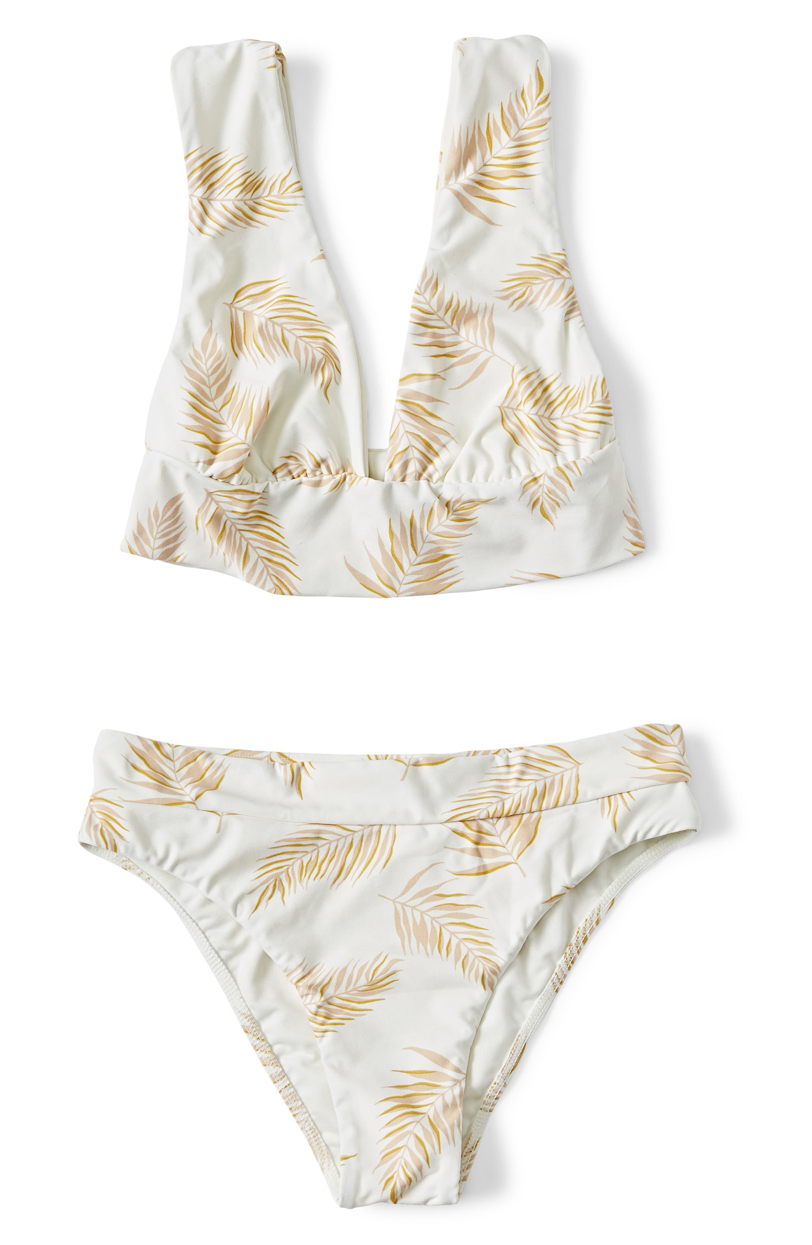 ,                             x Sincerely Jules Dos Palmas Maui High Waist Bikini Bottoms,                             Alternate thumbnail 6, color,                             SEASHELL