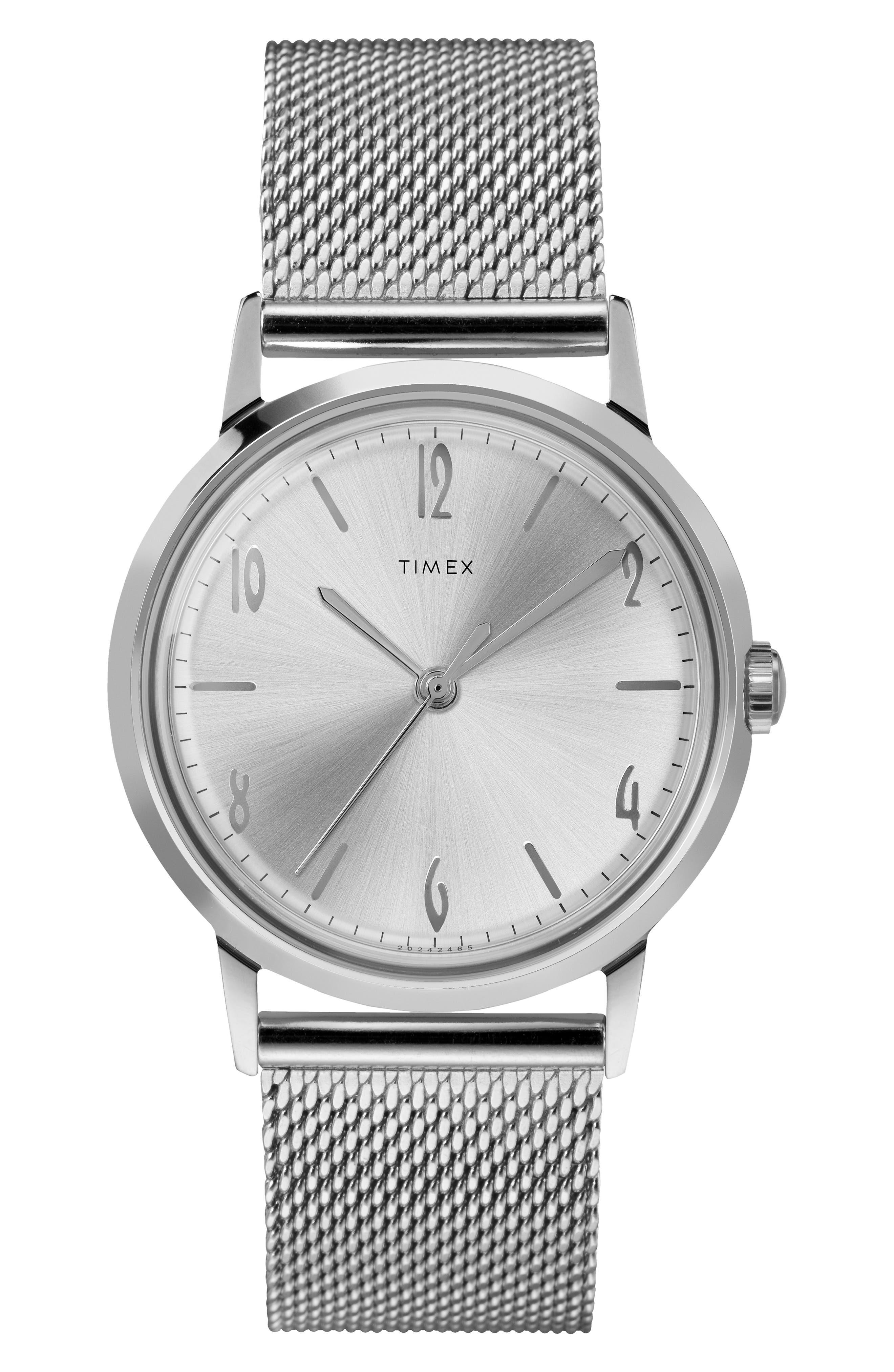 Timex Marlin Mesh Strap Mechanical Watch,