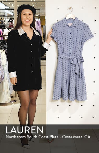 Button Down Fit & Flare Shirtdress, sales video thumbnail