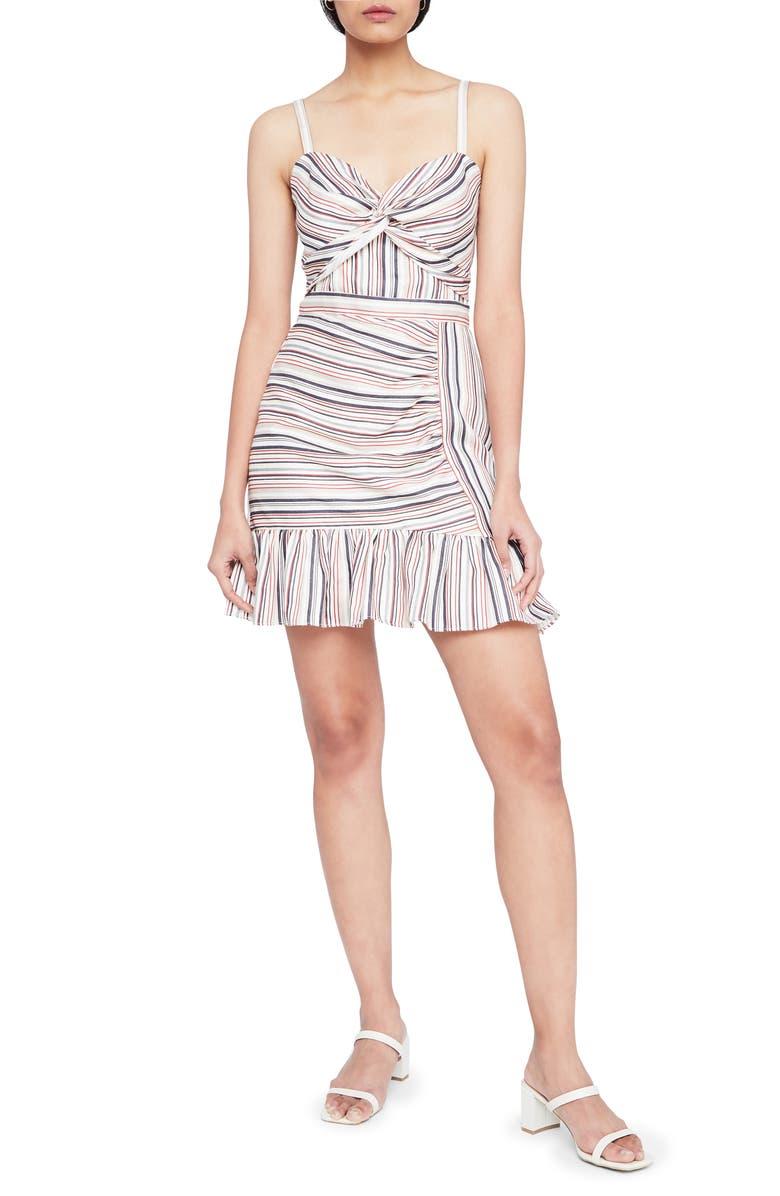 PARKER Risa Stripe A-Line Dress, Main, color, MINI HUDSON STRIPE