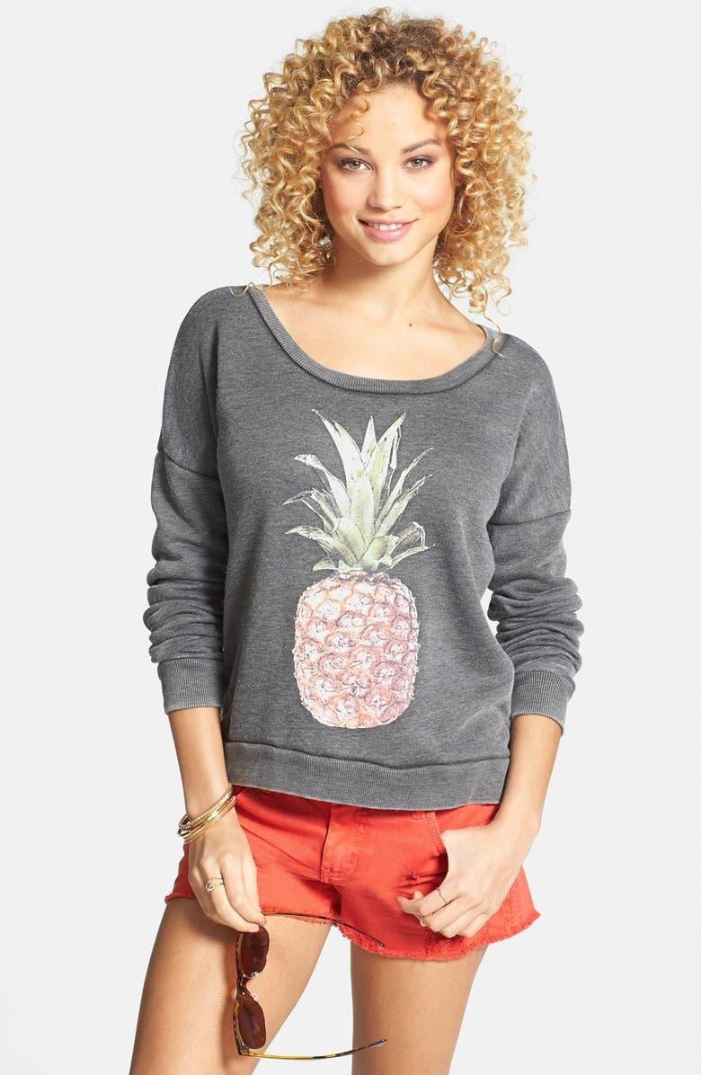 BILLABONG 'She Sells' Pineapple Print Pullover, Main, color, 001