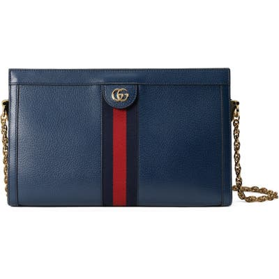 Gucci Medium Leather Shoulder Bag - Blue