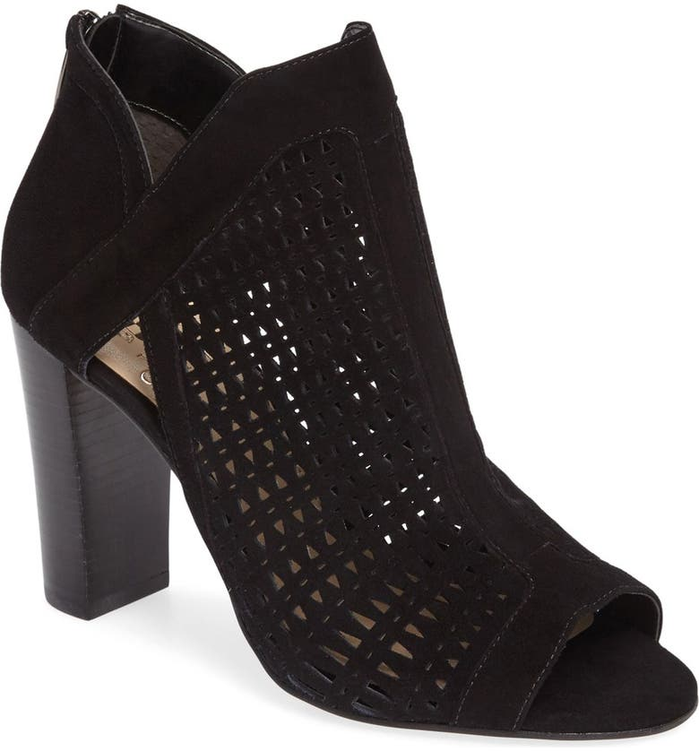 VINCE CAMUTO Cranita Perforated Bootie, Main, color, 001