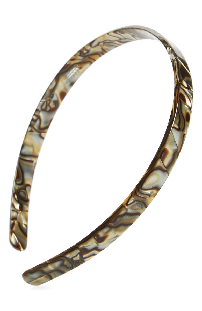 FRANCE LUXE Skinny Headband, Main, color, ONYX