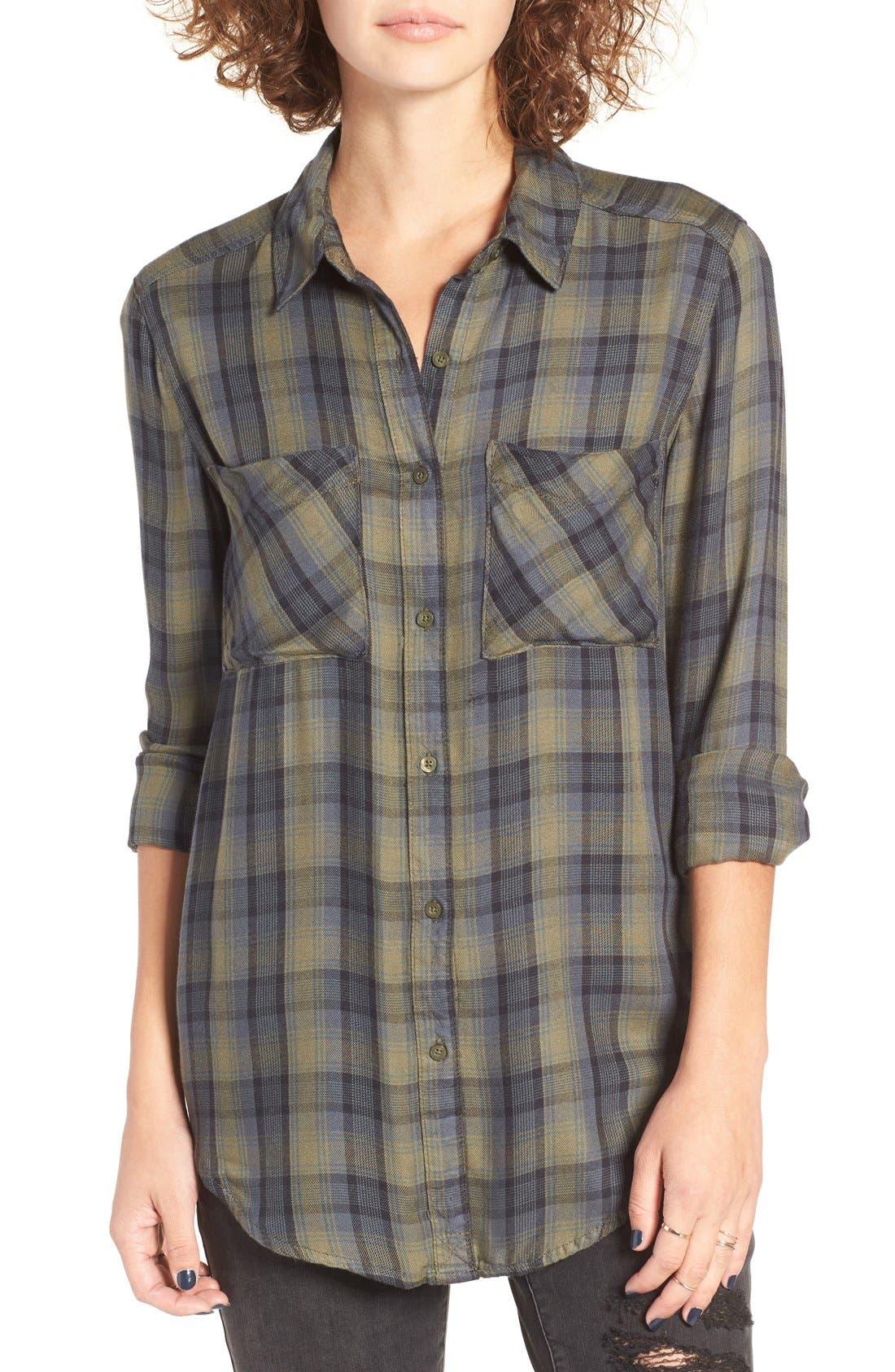 ,                             Plaid Tunic Shirt,                             Main thumbnail 19, color,                             311