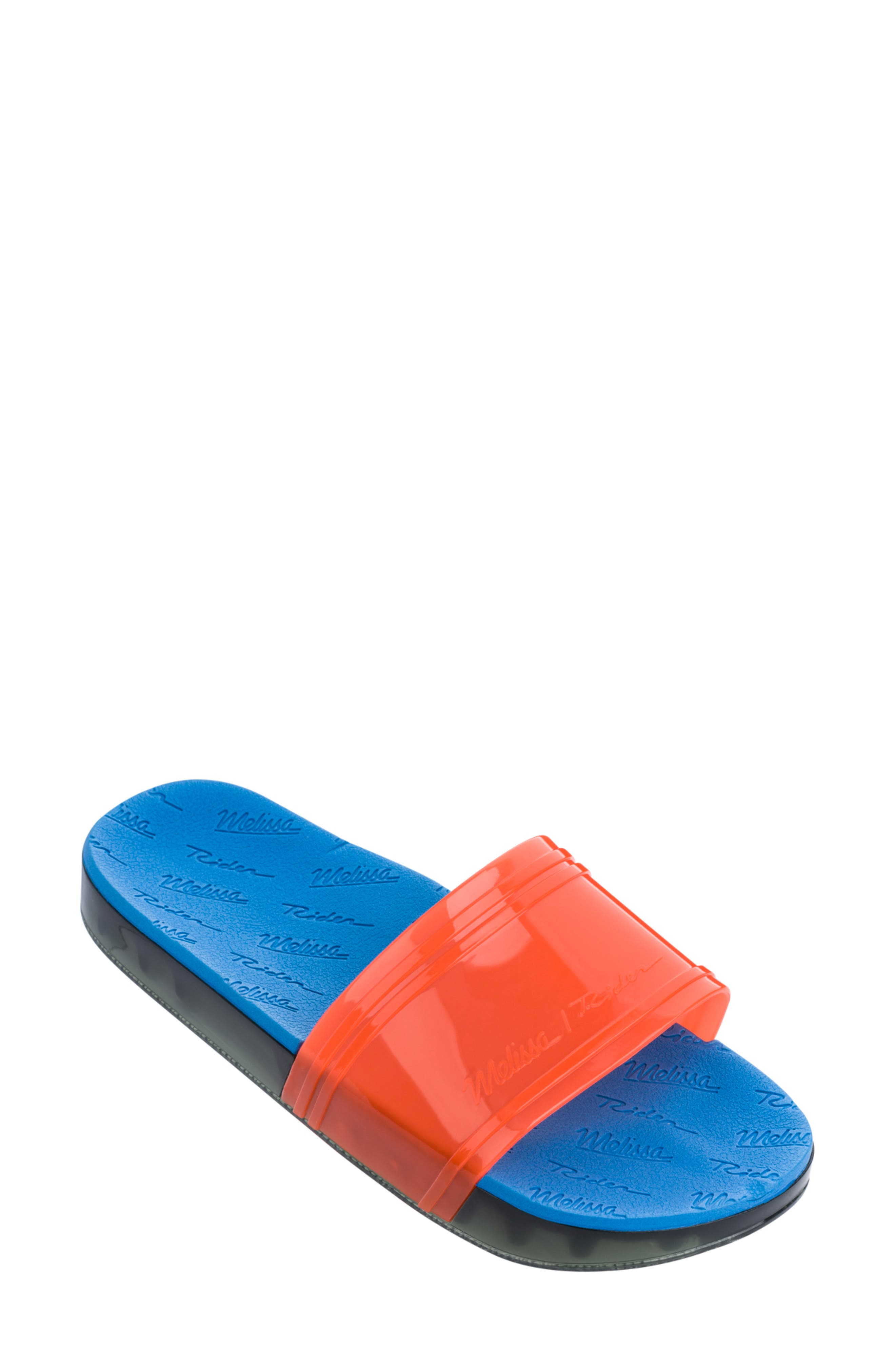 Melissa Slide Rider Sport Slide, Orange