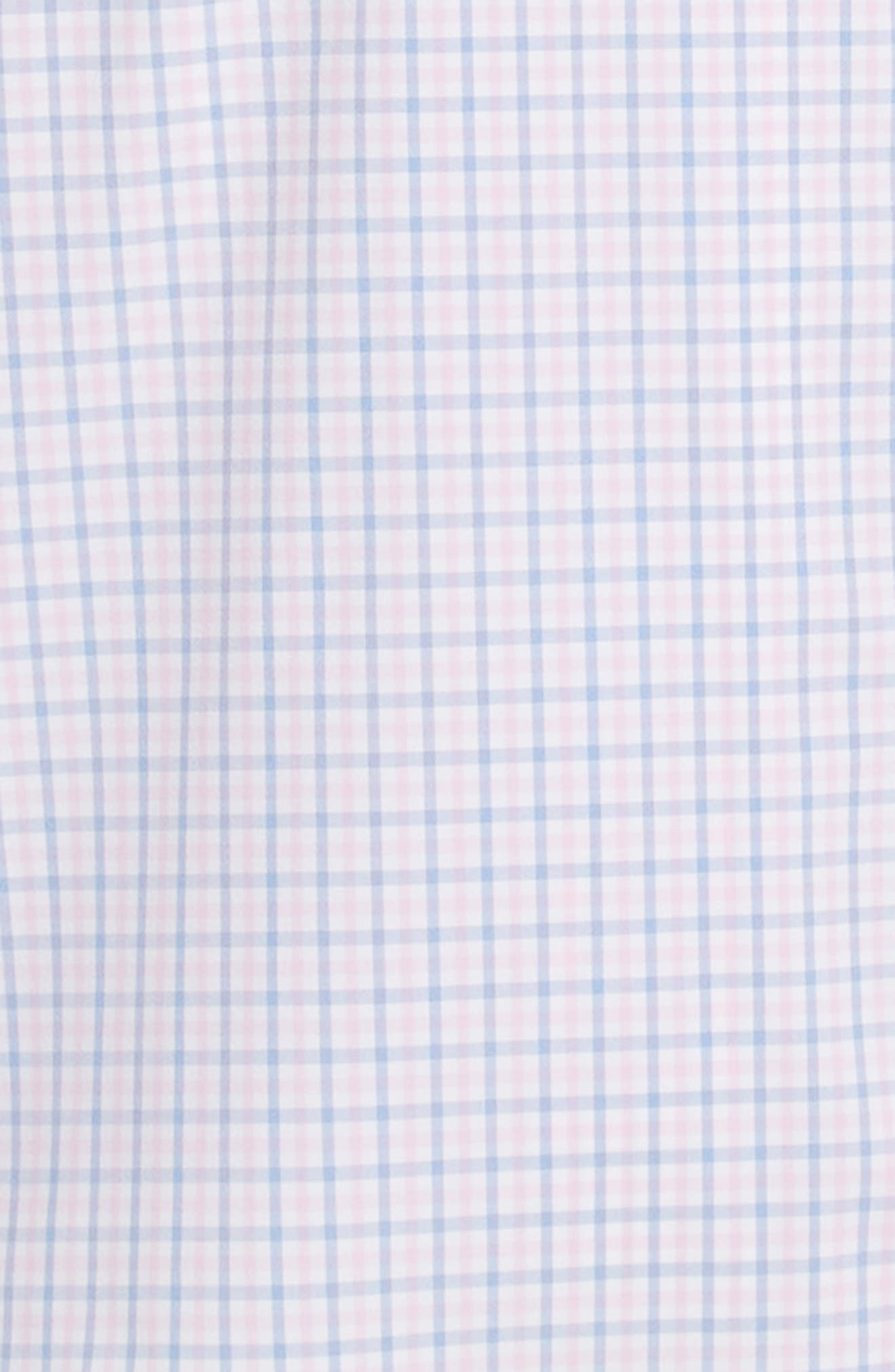 ,                             Seaside Tattersall Trim Fit Performance Sport Shirt,                             Alternate thumbnail 6, color,                             PINK