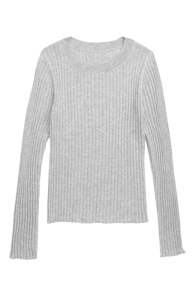 TUCKER + TATE Ribbed Sweater, Main, color, GREY ASH HEATHER