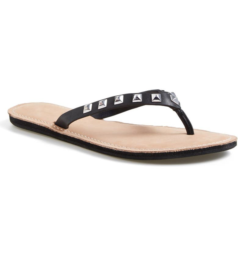 REBECCA MINKOFF 'Fiona' Thong Sandal, Main, color, 001