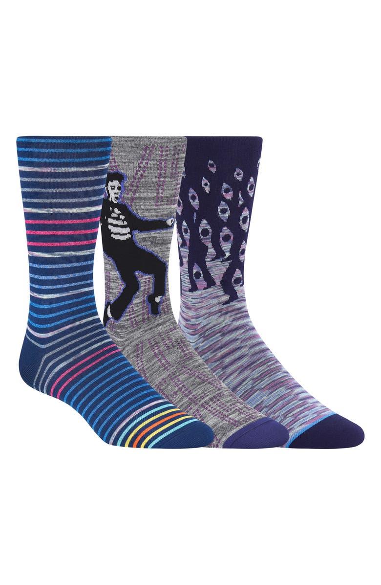 BUGATCHI 3-Pack Sock Gift Set, Main, color, 513