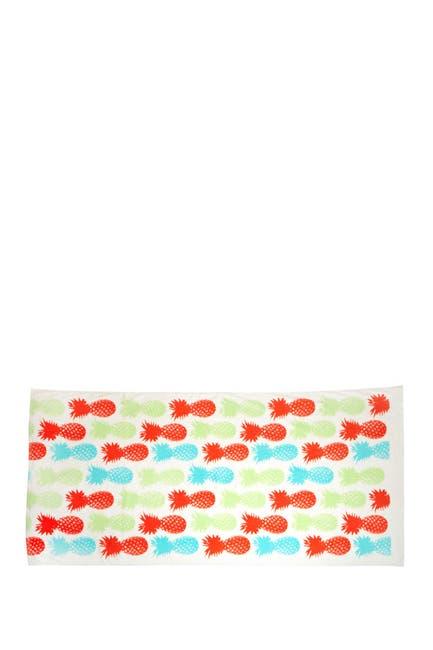 Image of Moda At Home Pineapple Rectangle Beach Towel