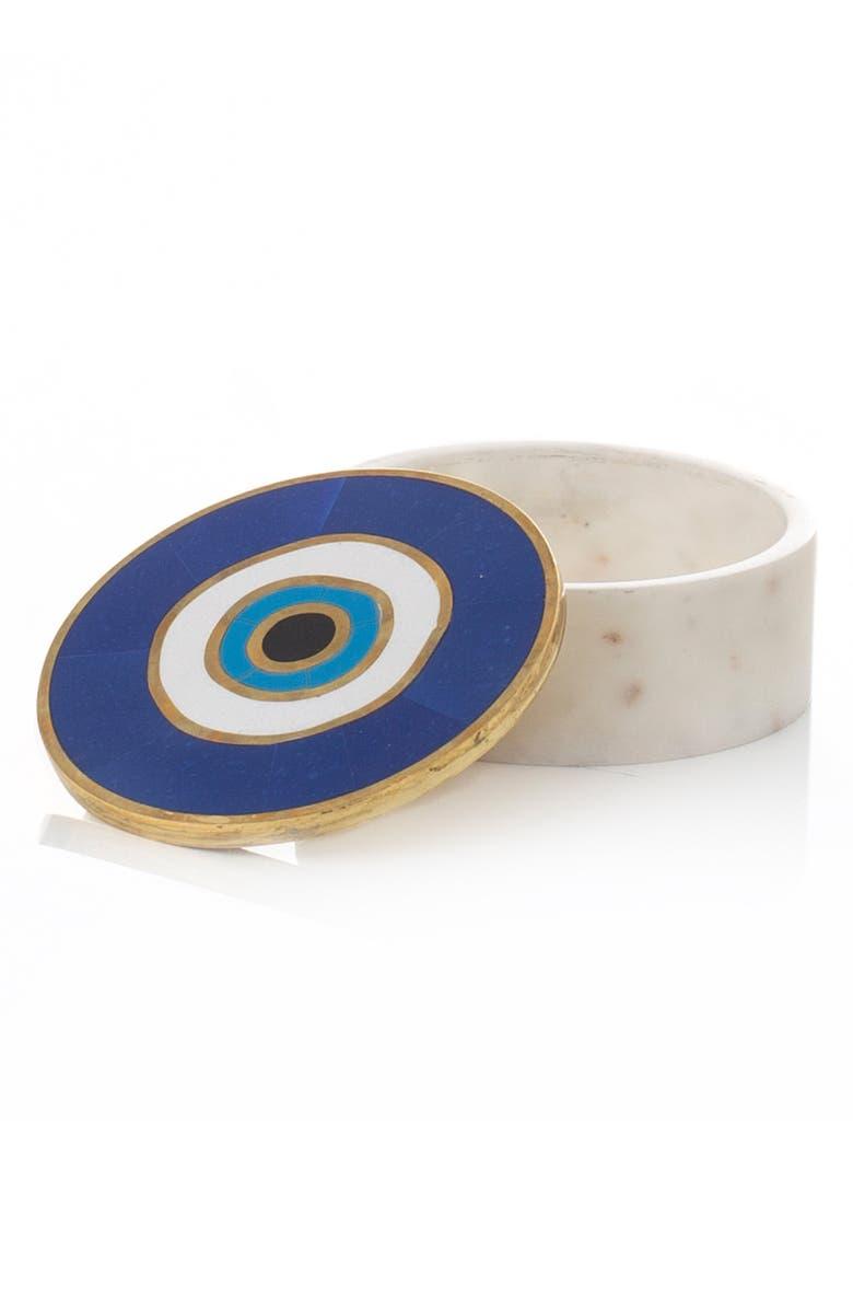 MICHAEL ARAM Evil Eye Trinket Box, Main, color, BLUE