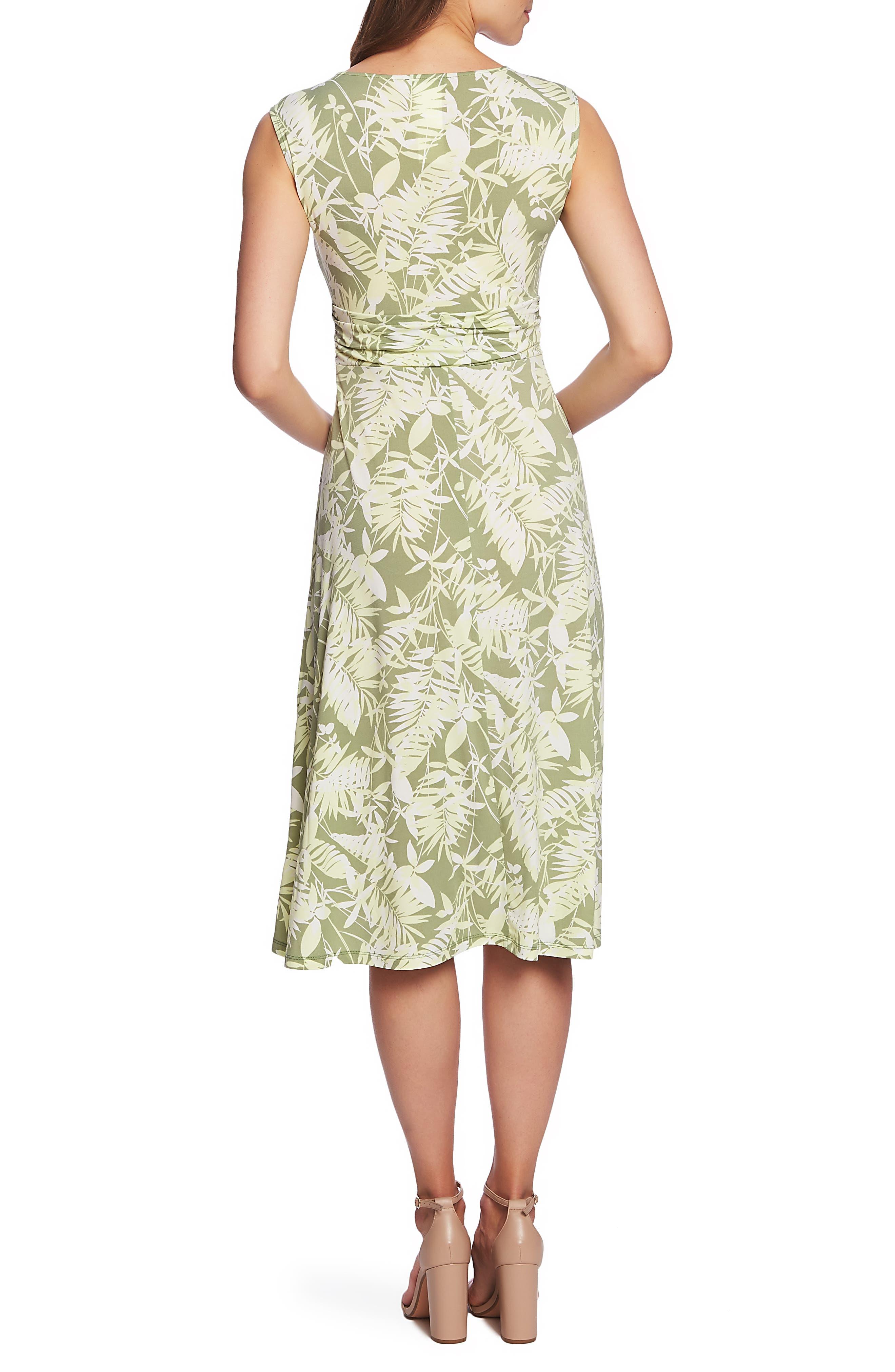 ,                             Tropical Foliage Tie Waist Dress,                             Alternate thumbnail 2, color,                             CITRUS PEEL