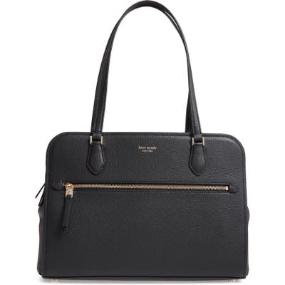 Kate Spade New York Large Polly Leather Tote - Black
