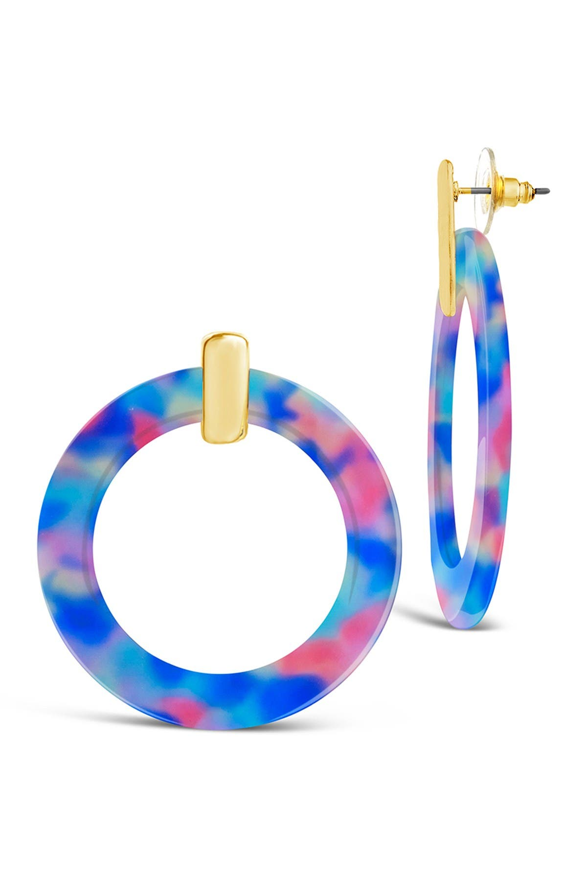Image of Sterling Forever Cake Resin Circle Stud Earrings