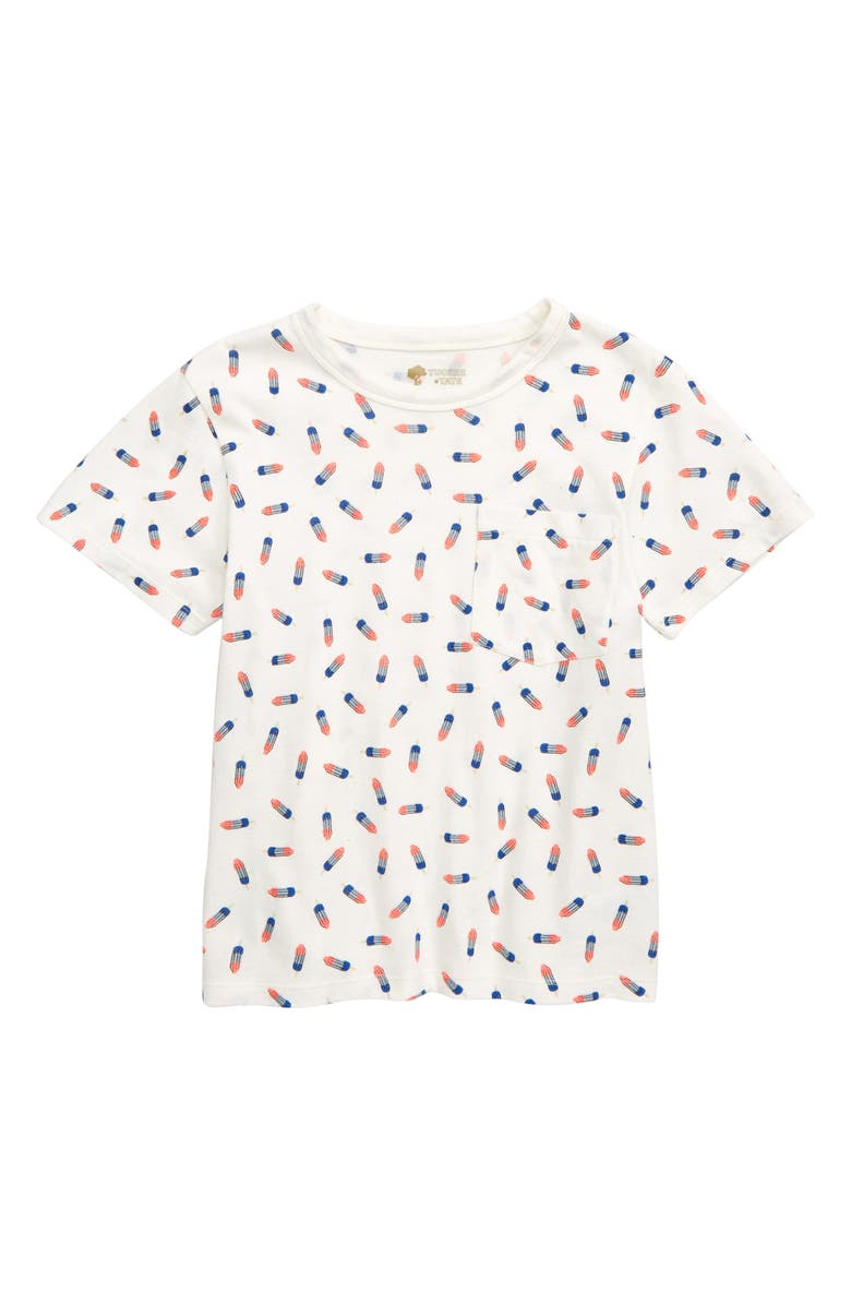 TUCKER + TATE Declaration of Prints T-Shirt, Main, color, WHITE ROCKET POPS