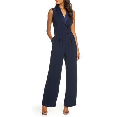 Eliza J Wrap Jumpsuit, Blue