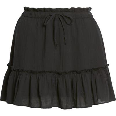 Plus Size Bp. Gauzy Miniskirt, Black