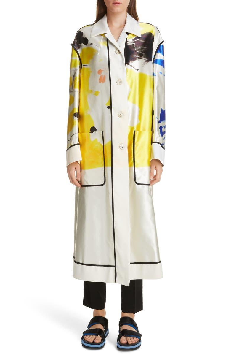 DRIES VAN NOTEN Ravela Cotton & Silk Jacket, Main, color, 700