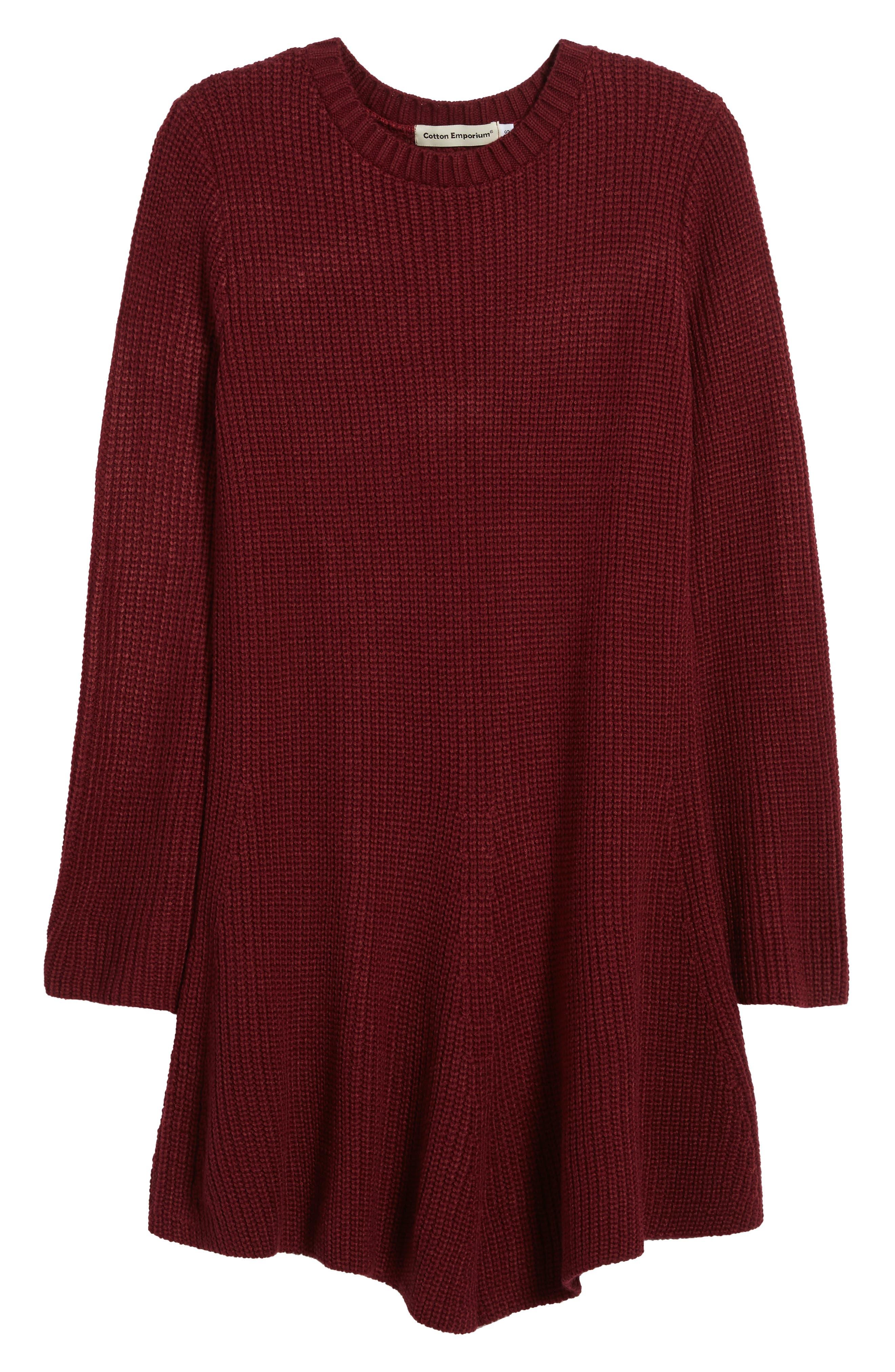 ,                             Flared Sleeve Sweater Dress,                             Alternate thumbnail 18, color,                             930