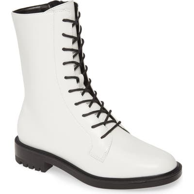 Steve Madden Brant Lace-Up Boot- White