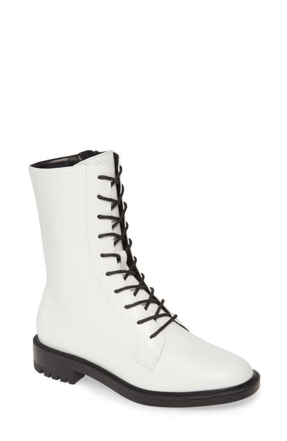 Steve Madden Brant Lace-Up Boot In White