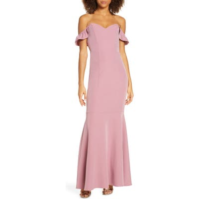 Wayf The Gabrielle Strapless Trumpet Gown