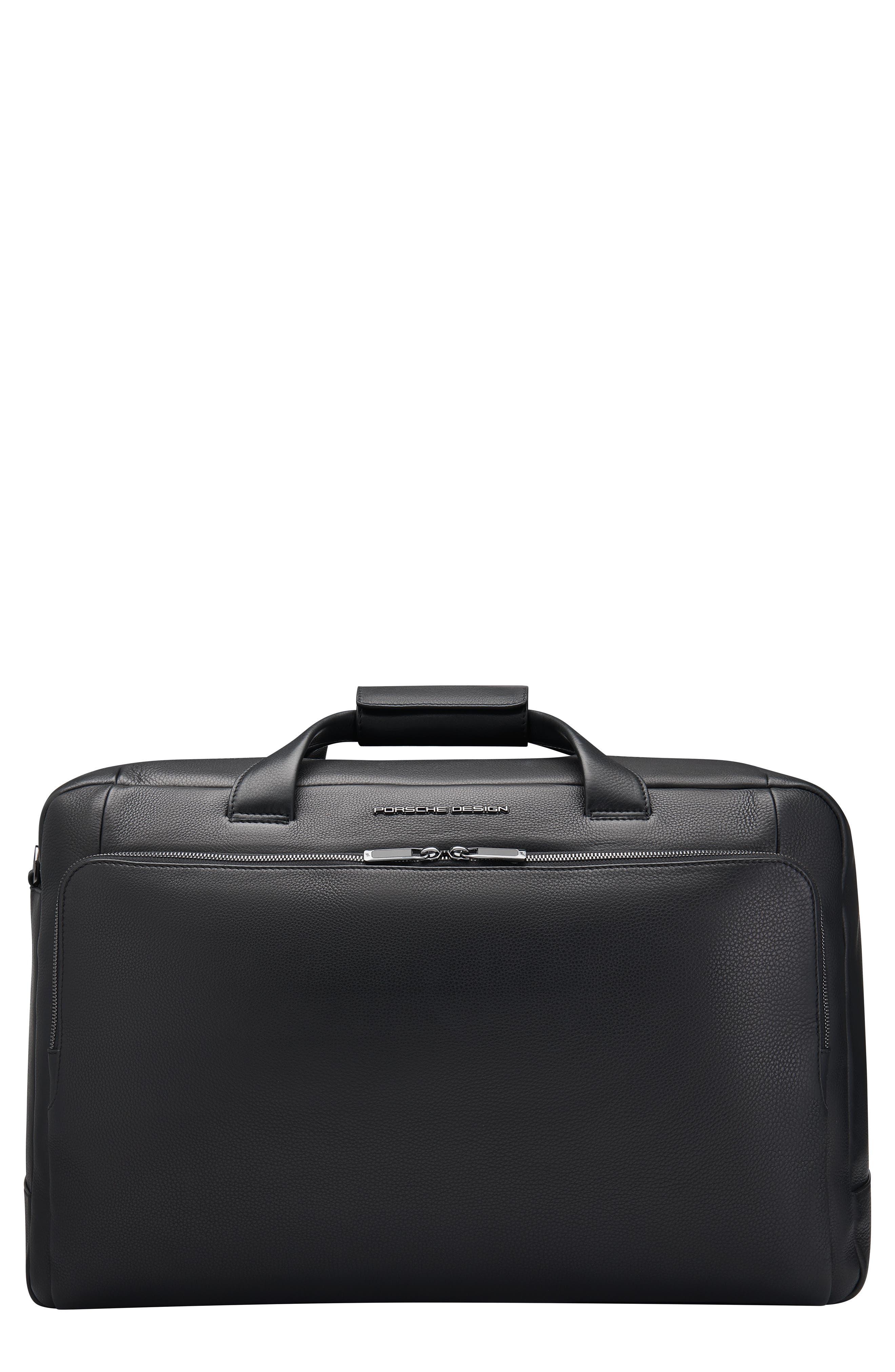 Roadster Water Resistant Leather Weekend Duffle Bag