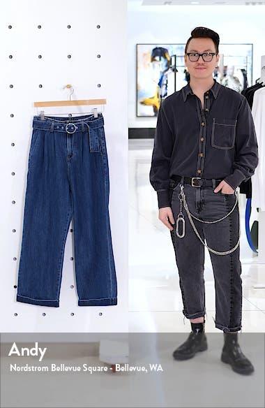 Kristina High Waist Belted Denim Pants, sales video thumbnail