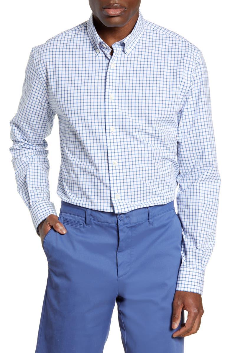 JOHNNIE-O Alumni Classic Fit Check Button-Down Shirt, Main, color, PACIFIC