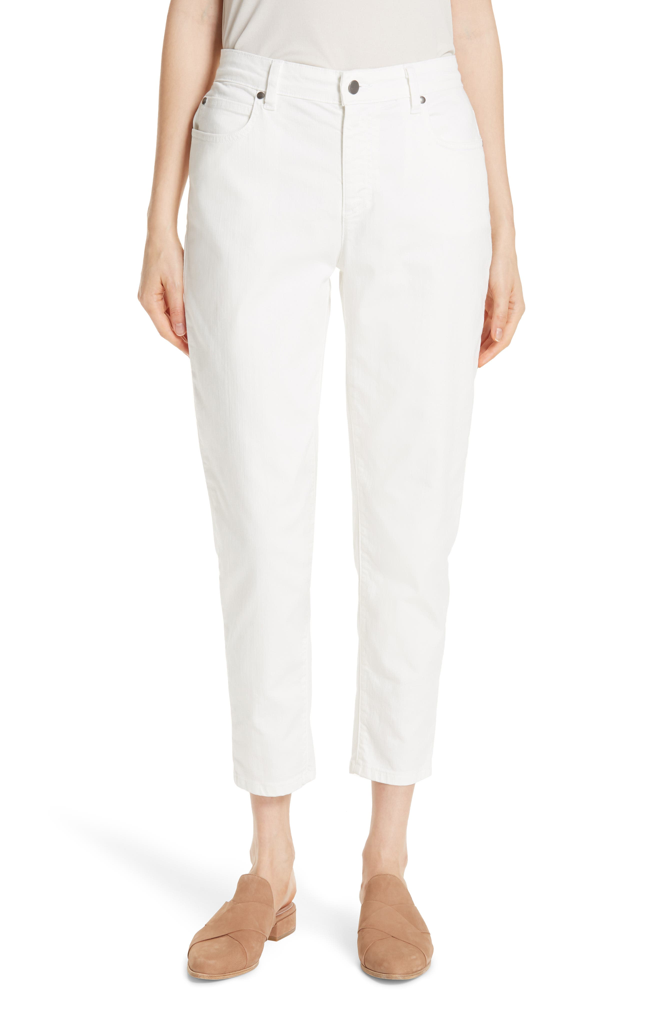 Image of Eileen Fisher Tapered Crop Jeans