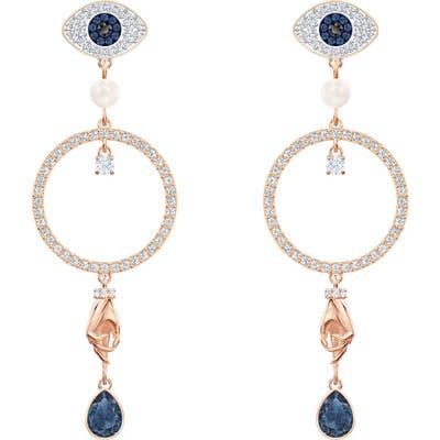Swarovski Symbolic Hoop Drop Earrings