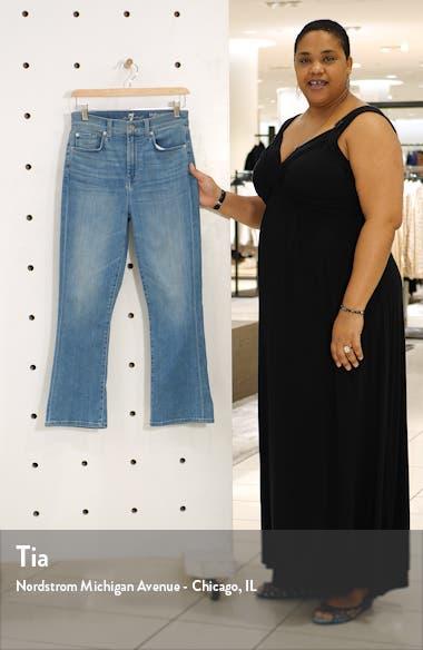 High Waist Slim Kick Jeans, sales video thumbnail
