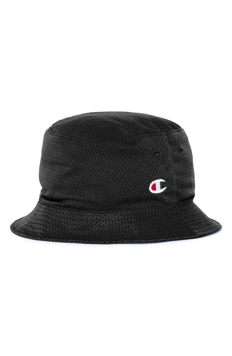 CHAMPION Reversible Mesh Bucket Hat, Main, color, 020