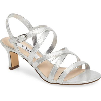 Nina Genaya Strappy Evening Sandal, Metallic