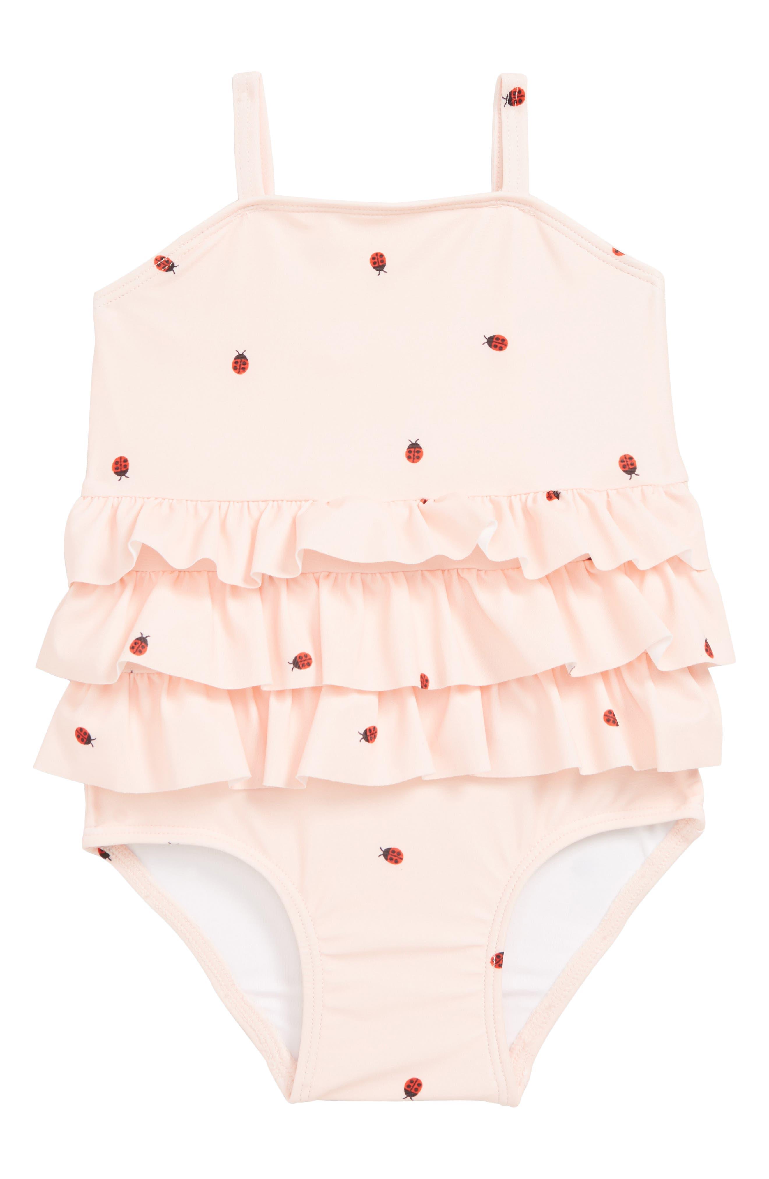f601a6429 Infant Girl's Tucker + Tate Ladybug Ruffle One-Piece Swimsuit, Pink