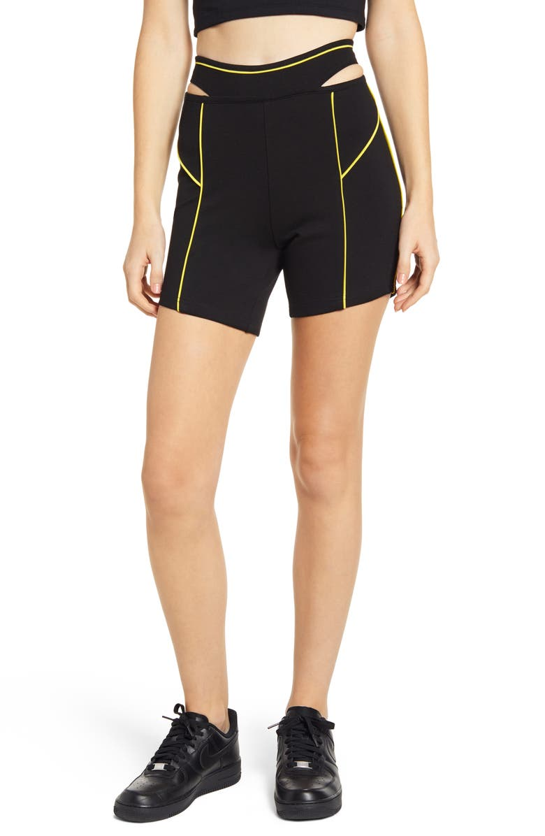 I.AM.GIA Luna Shorts, Main, color, BLACK/ YELLOW